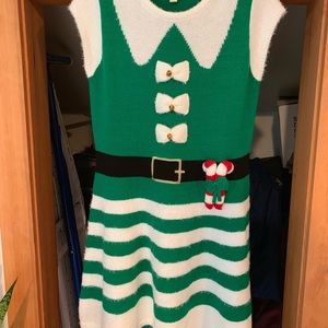 Knit funny Christmas dress, Worn once!